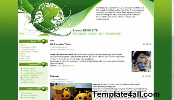 Nature White Green Joomla Template Design