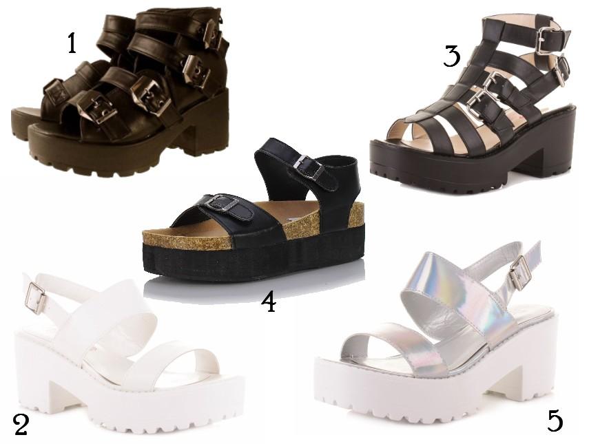 Top Ten Chunky Buckle Sandals
