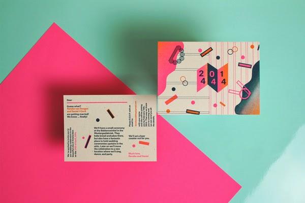 tarjeta colorida bodas creativas