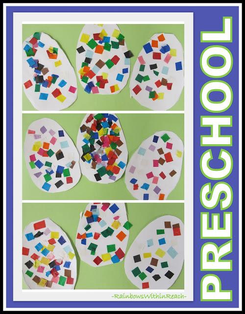 photo: Preschool Tissue Paper Easter Eggs via RainbowsWithinReach