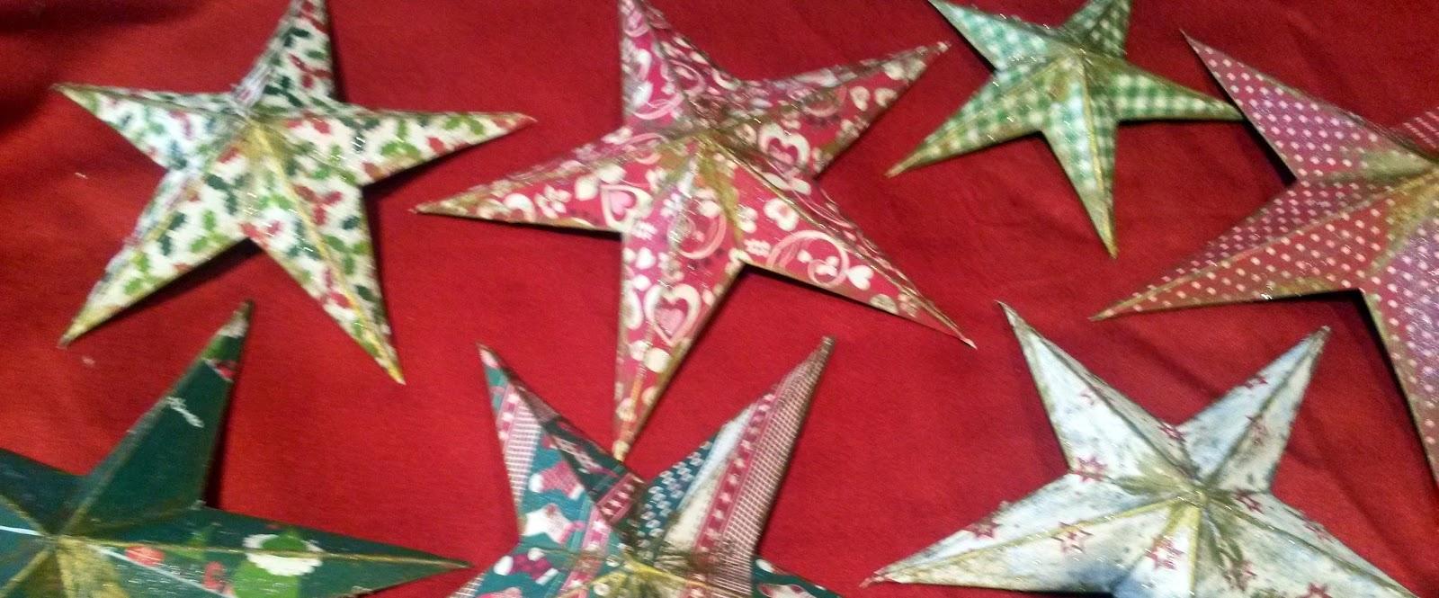 décoration avec des étoiles