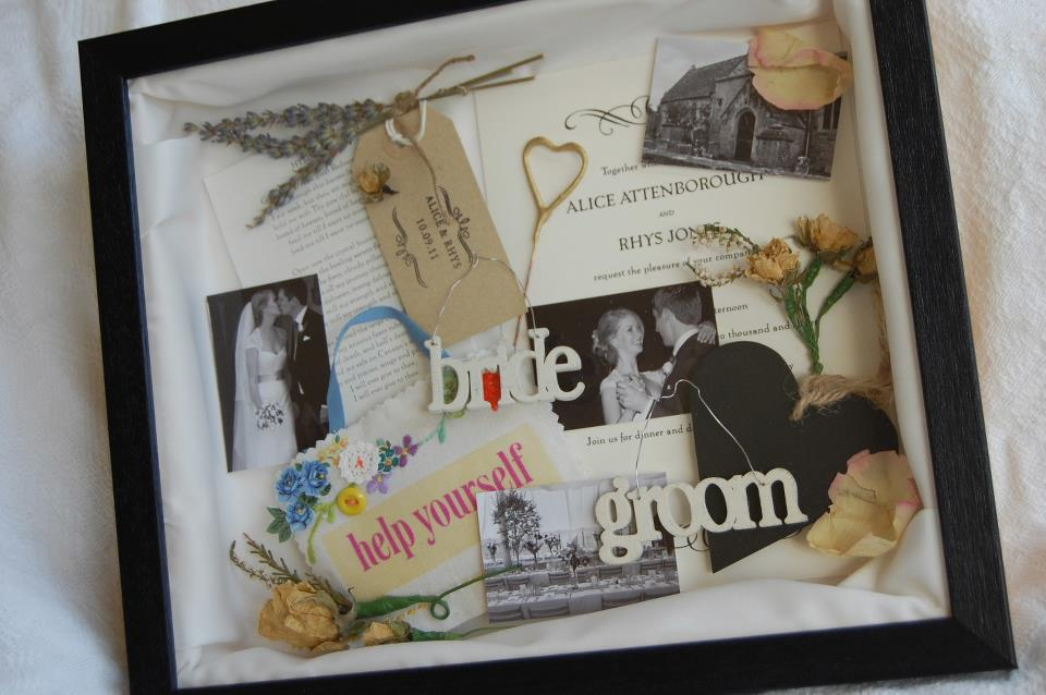 bristol vintage wedding fair erika glanville bespoke memory frames on wedding invitation memory box