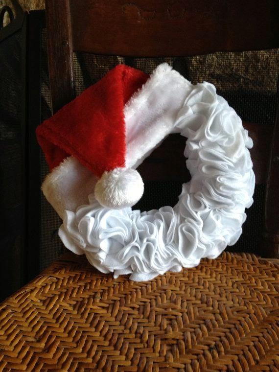 Mi casa inventada coronas navide as de fieltro - Coronas navidenas de fieltro ...