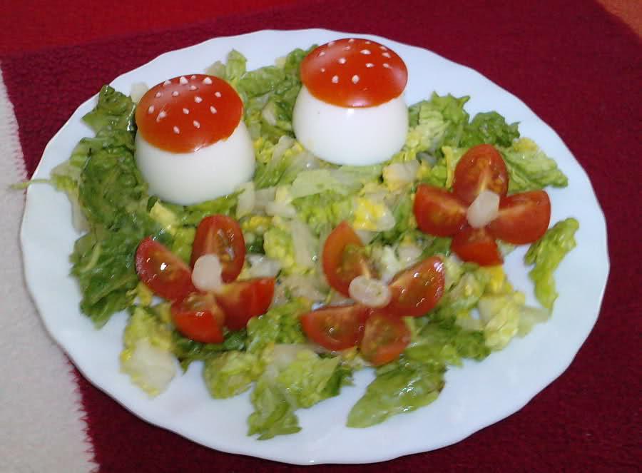 Jugando con duendes y hadas ensaladas para ni os for Decoracion de ensaladas