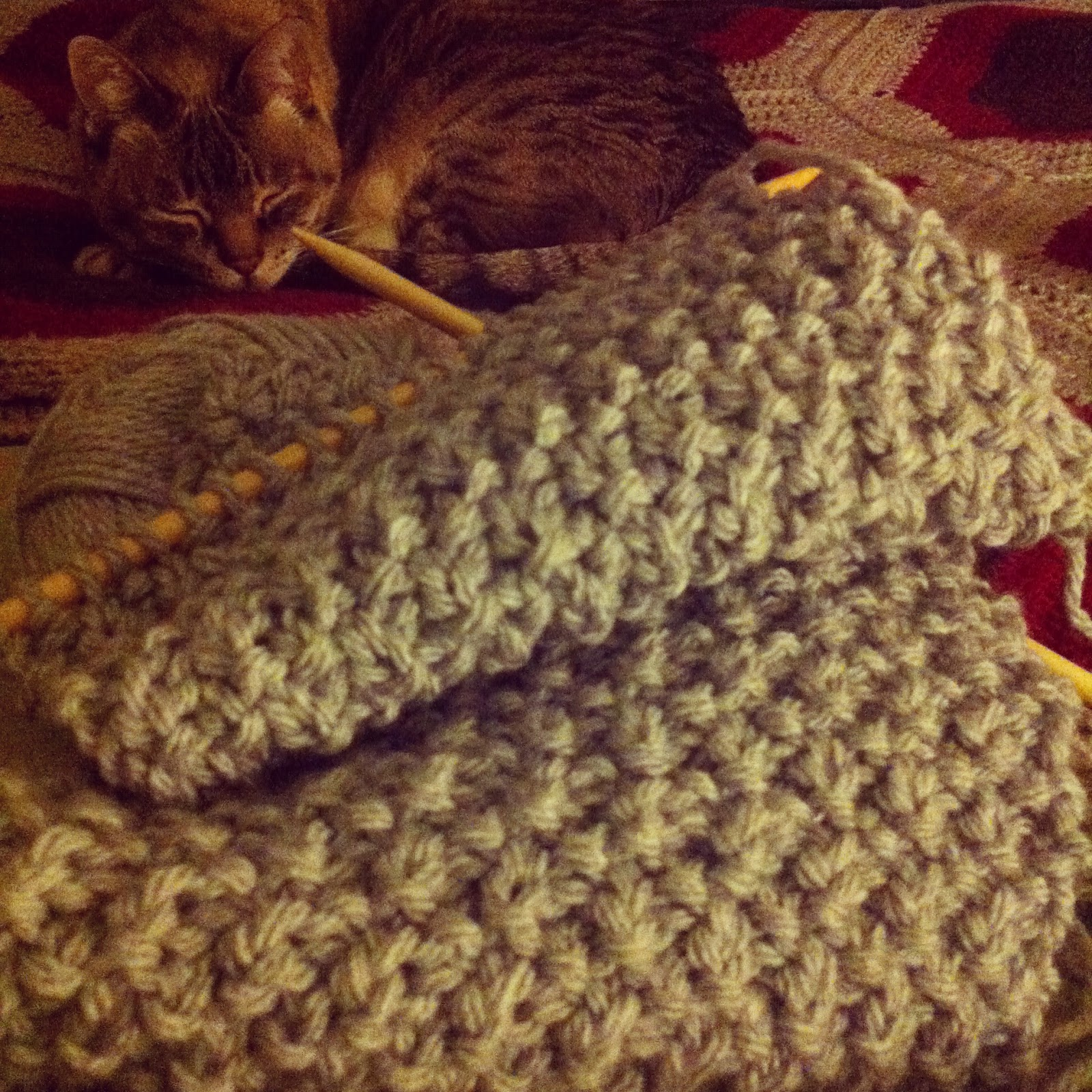 Irish moss stitch scarf, Long time traveller for KOGO May Contain...