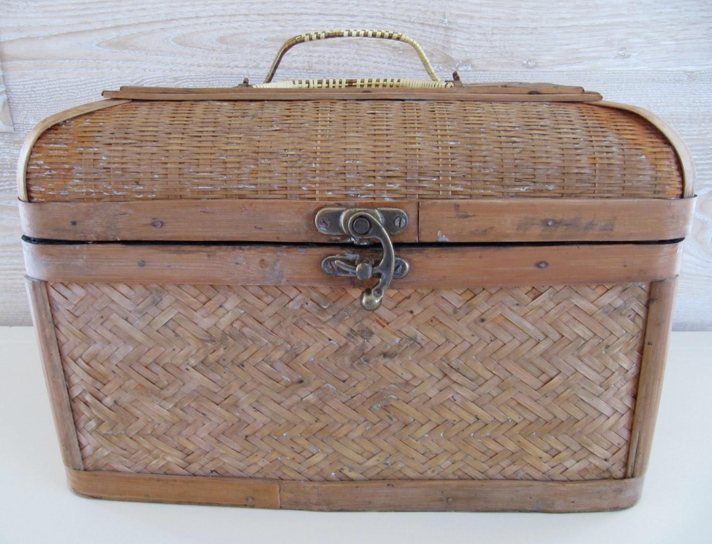 Mid-Century Bamboo/Rattan Box