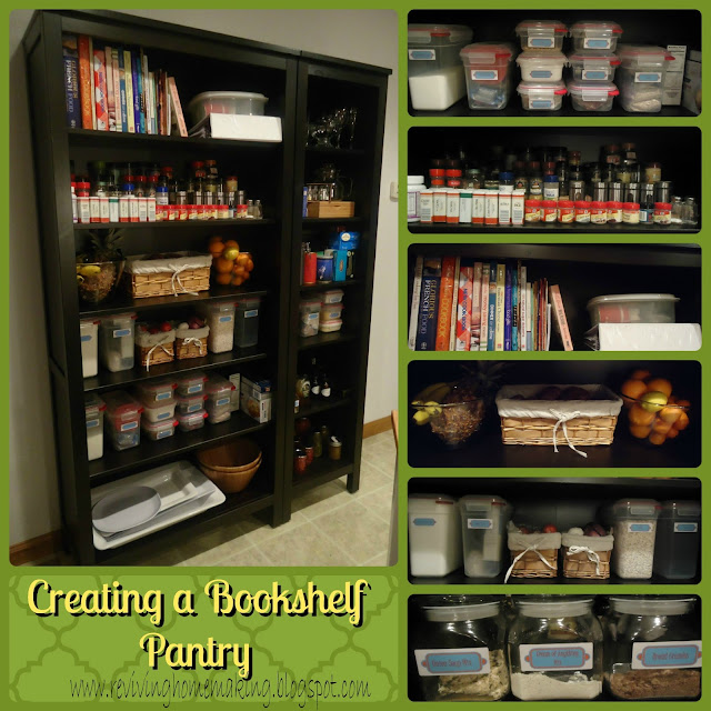 Creating a Bookshelf Pantry