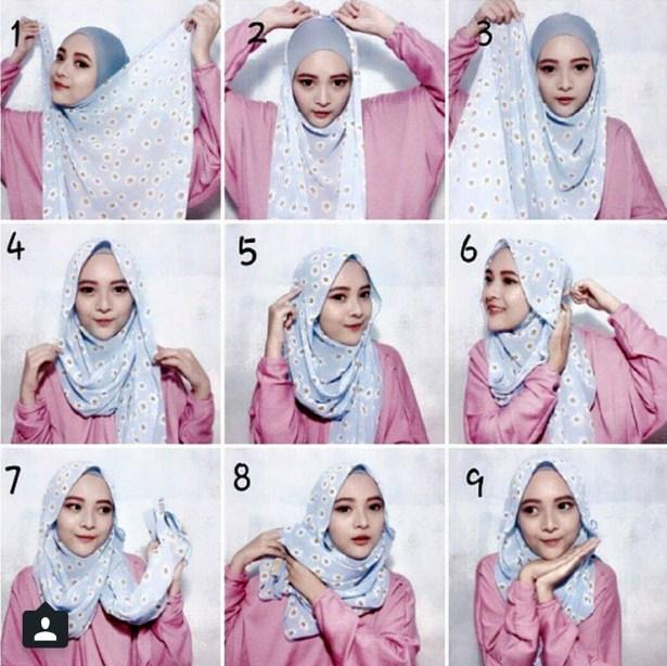 Contoh Tutorial Hijab Modern Glamour untuk Pesta