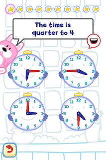 Tell the Time with Bubbimals iPad / iPhone App, Choose the time
