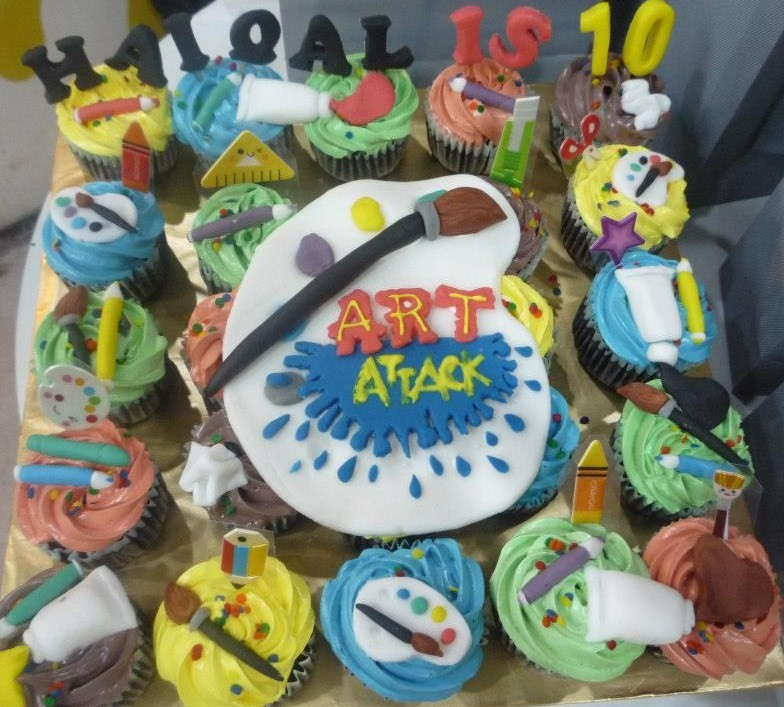 Art Attack Theme Cupcakes Indah Cakes