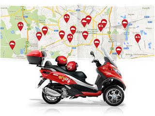 Parte a Milano il primo scooter sharing in modalità Free Floating