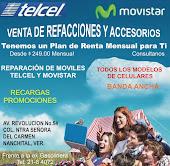 Planes de renta para Telcel y Movistar