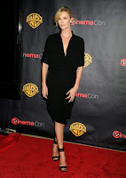 Charlize Theron hotinblack outfit