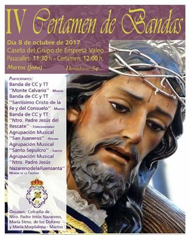 DOMINGO 8 OCTUBRE. IV CERTAMEN DE BANDAS DE MARTOS