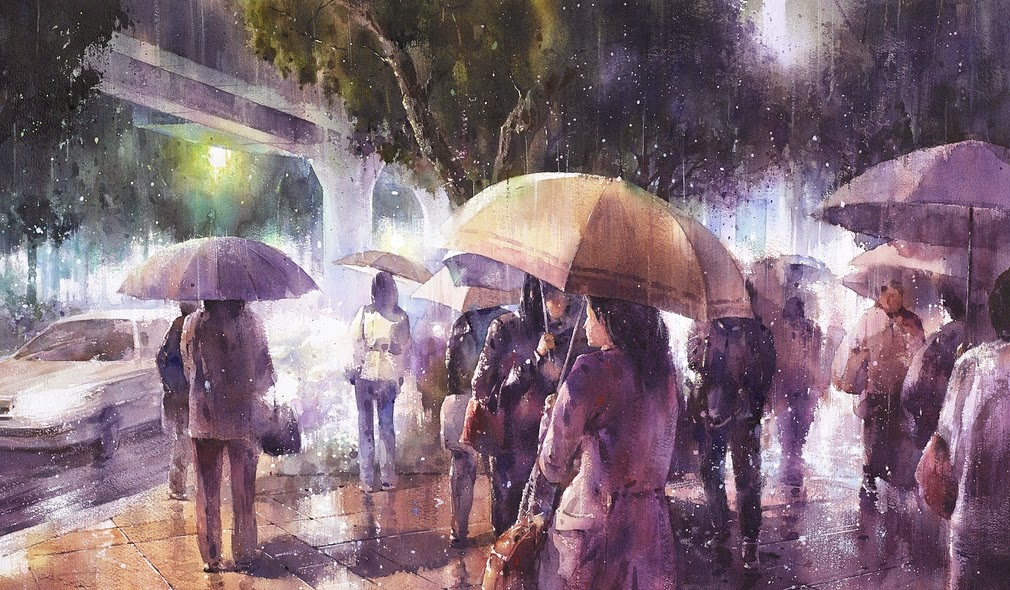 02-Lin Ching-Che 林經哲-Dreamlike-Watercolor-Paintings-in-the-City-www-designstack-co