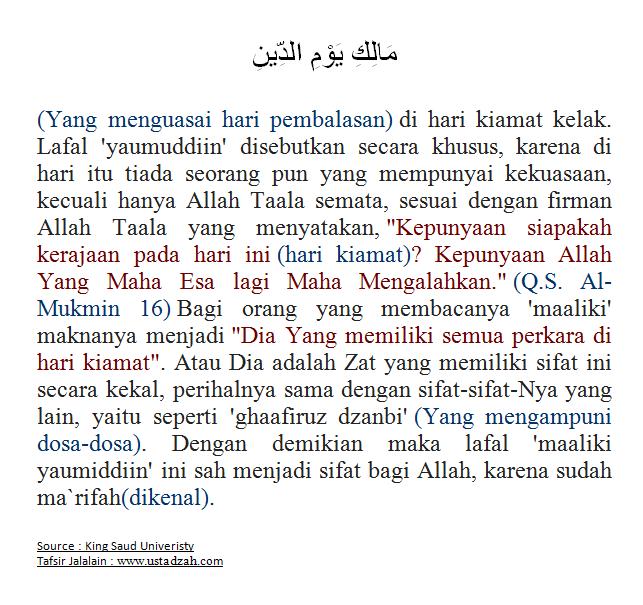 TAFSIR SURAT AL-FAATIHAH