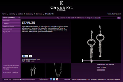 Charriol Geneve website