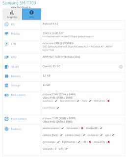 Samsung SM-T700 GFXBench