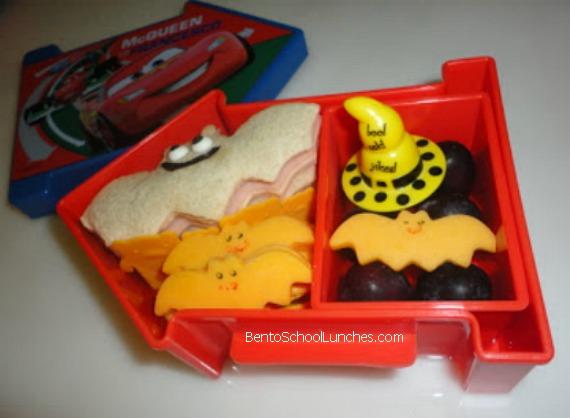 Bats halloween lunch