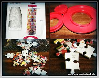 nummerierte Puzzleteile