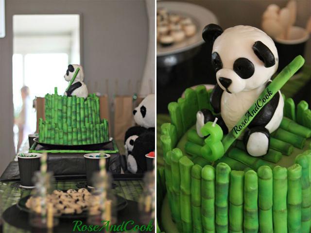 thème panda cake