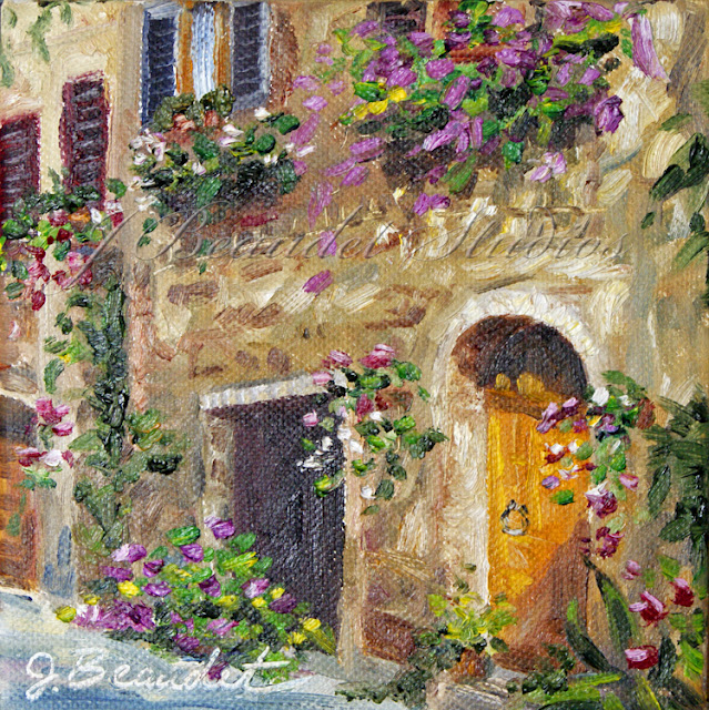 *Terra Garden*: Painting Of Italian Home