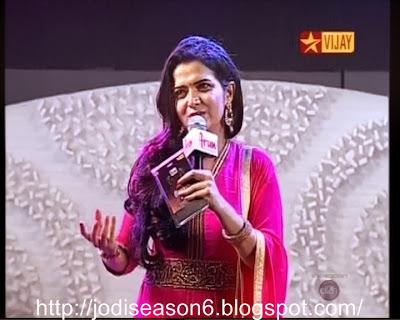 Dhivyadharshini in Jodi Season 6 Finale