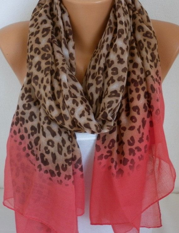 chambray leopard scarf