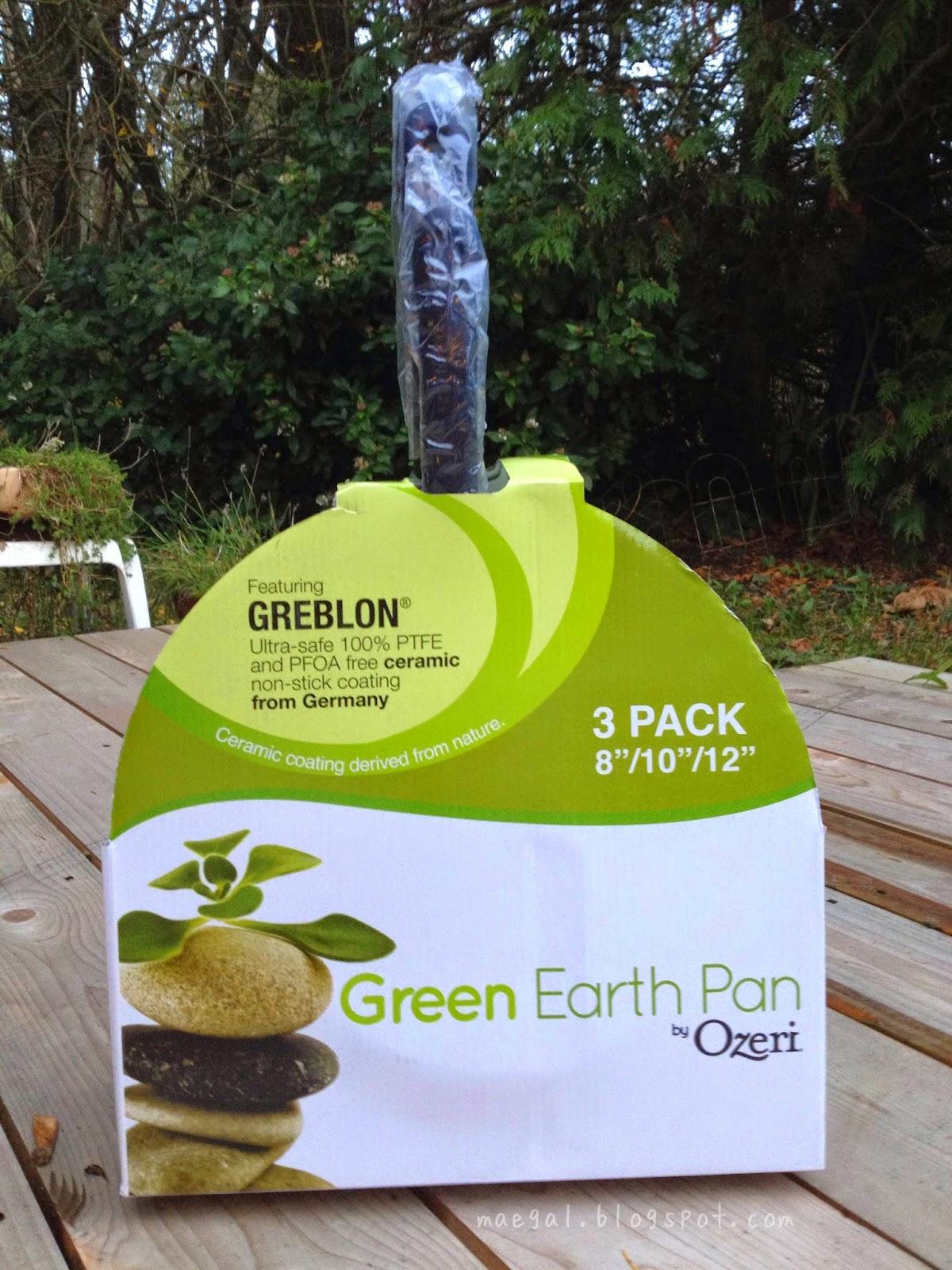Ozeri 3-Piece Green Earth Ceramic Pan | maegal.blogspot.com