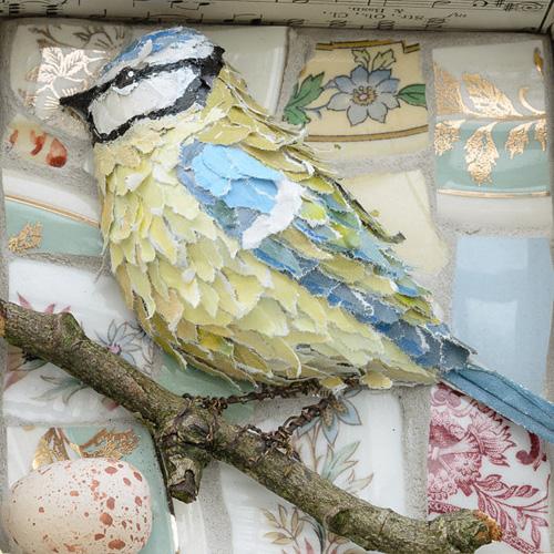 My owl barn arts a futter 3d papier mache birds for Diy paper mache owl