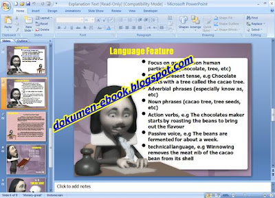 Tugas Explanation Text PowerPoint image