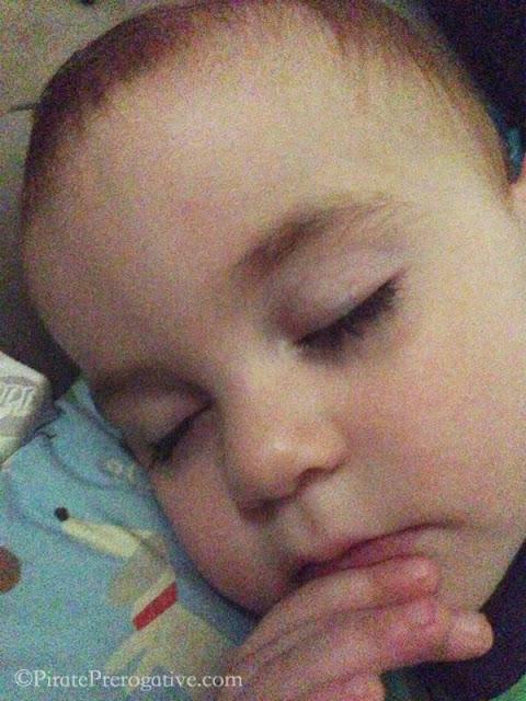 Thinking in his sleep.