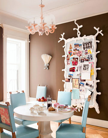 Decora o usando a cor azul cores da casa for Quirky dining room ideas