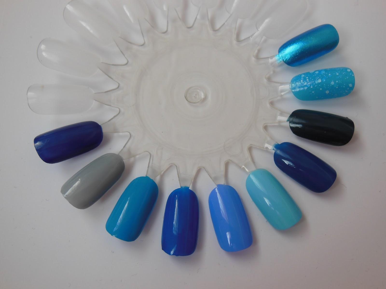 shades of blue nail polish | best nail designs 2018