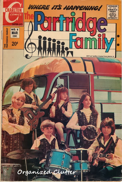 Partridge Family Comic Book http://organizedclutterqueen.blogspot.com/2013/10/1972-partridge-family-comic-books.html