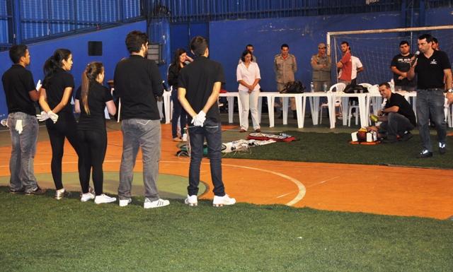Estudantes e profissionais do UNIFESO na competição entre equipes no Campus Sede