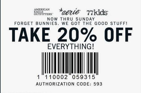 American eagle coupons 20 off 75