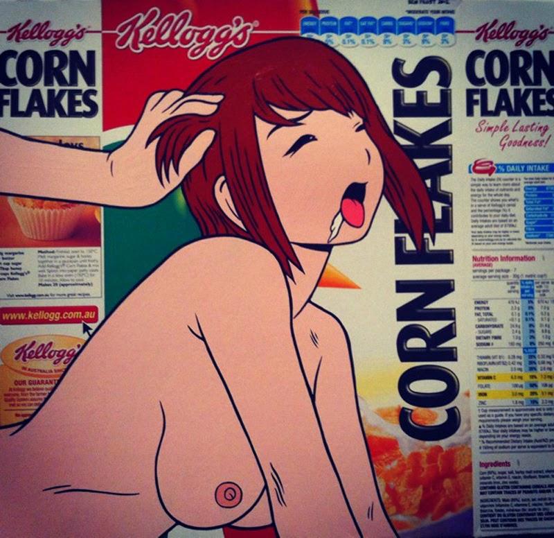 packagings hentai del artista grafitero Ben Frost