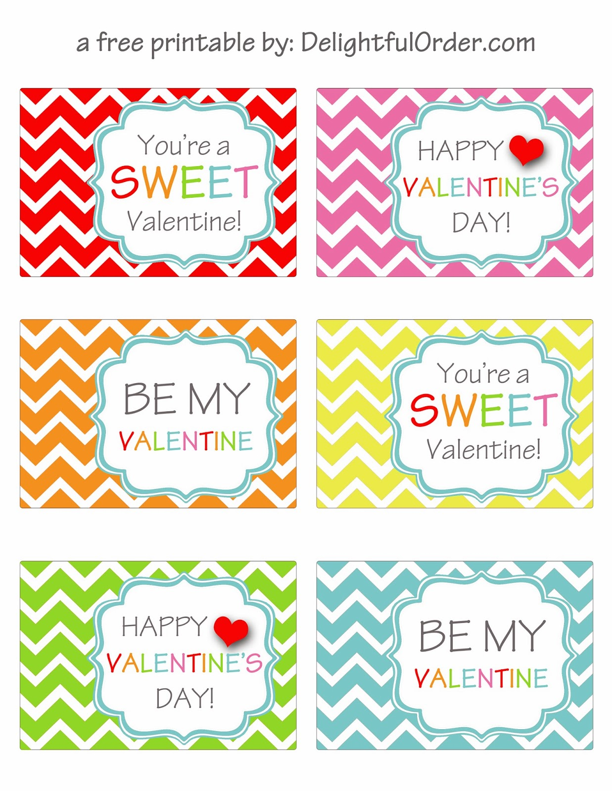 It's just a picture of Intrepid Printable Valentine Tag