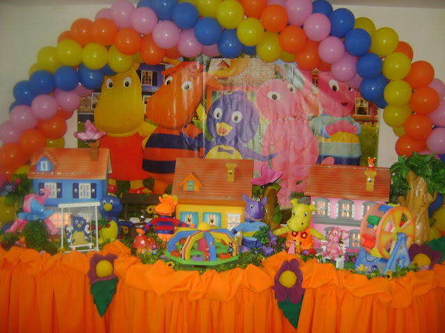 Buffet Infantil-Decoração Backyardigans