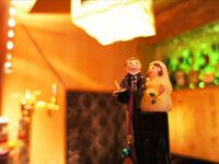 新郎・新婦の人形 | ジューンブライド結婚式のイラスト・画像素材