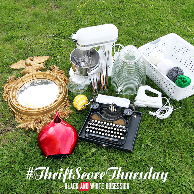 #thriftscorethursday Week 18, Best weekend ever: KitchenAid hand and stand mixer, typewriter +more | www.blackandwhiteobsession.com