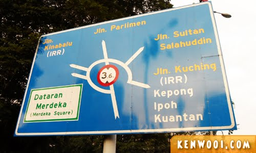 malaysia road sign