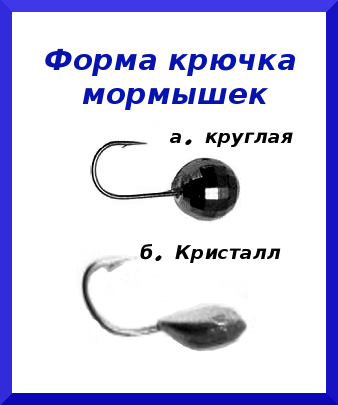 Форма крючка мормышки