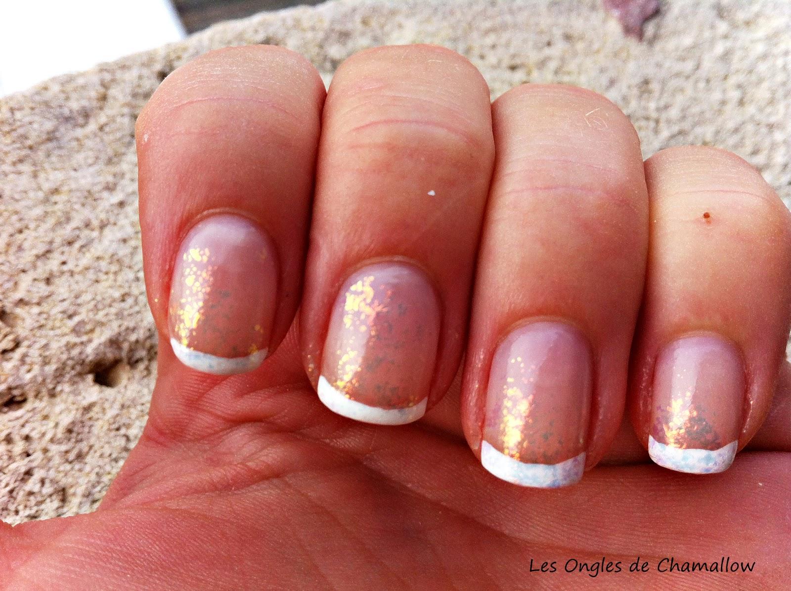 Les ongles de chamallow scintillante french manucure - Ongles french manucure photos ...
