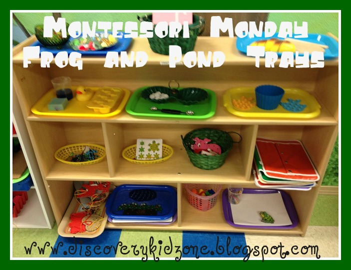 discovery kidzone montessori adventures montessori monday pond trays