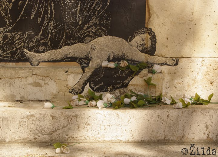 Zilda, street art, Paris, Fragiles Fabulae