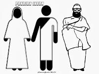 Gambar Mewarnai Pakaian Ihram Untuk Ibadah Haji