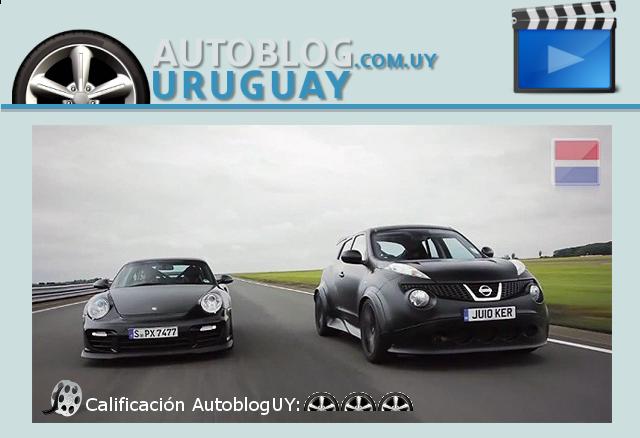 videos en autobloguy nissan juke r vs porsche 911 gt2 rs autoblog uruguay. Black Bedroom Furniture Sets. Home Design Ideas