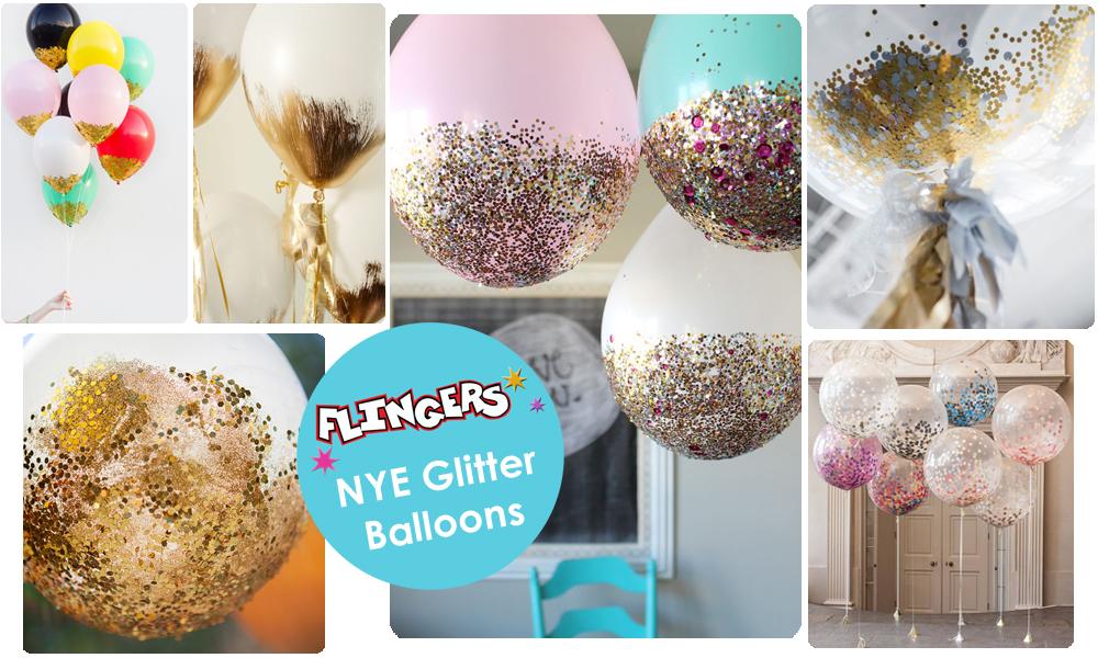 how to make glitter balloons
